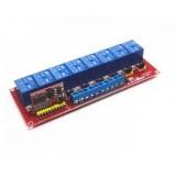 Модуль реле 8 реле управляемый ИК пультом