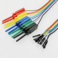 10 проводов с клипсами 20см