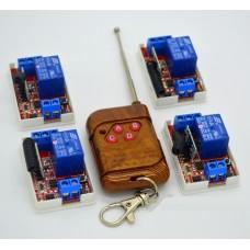 4 радиореле + пульт 4 кнопки